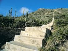 Mount Hooiberg in #Aruba Tough climb but the views from the top are just breath taking.