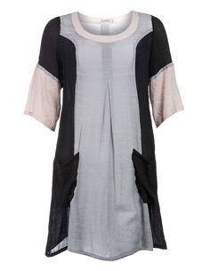 Black light grey plus size dress