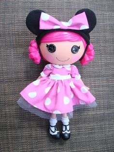 Lalaloopsy Doll Clothes Minnie Mouse Dress and Ears Headband