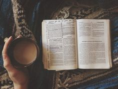 there just aren't many things better than a cup of coffee in your hand and a Bible in your lap.