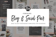 Blog Post + Social Media Templates by TheBlogDept on @creativemarket