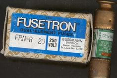 FUSETRON FUSES FRN-R 20 BUSSMAN #FUSETRON