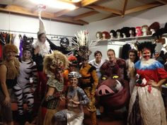 The amazing acttiv entertainer team from H10 Lanzarote Gardens behind the scenes of The Lyon King Show
