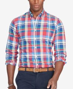 POLO RALPH LAUREN Polo Ralph Lauren Men's Long-Sleeve Oxford Shirt. #poloralphlauren #cloth #down shirts