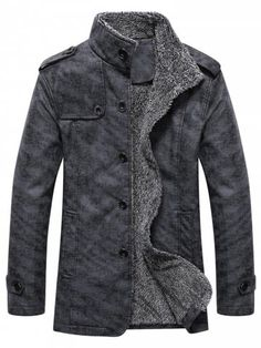 Discount Up to 2018 Winter Warm Faux Leather Jacket Men Solid Long Sleeve PU Leather Coat Stand Collar Thick Slim Fit Men Jacket Trench Coats Line Jackets, Warm Jackets, Men's Jackets, Cheap Jackets, Cheap Coats, Ideias Fashion, Mens Fashion, Cheap Fashion, Fashion Vest