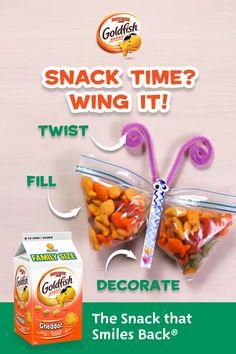 Preschool Snacks, Craft Activities For Kids, Diy Crafts For Kids, Fun Crafts, Butterfly Snacks, Diy Butterfly, Popsicle Stick Crafts For Kids, Craft Stick Crafts, Cheddar