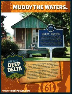 Visit Rolling Fork, Mississippi ! The Birthplace of Muddy Waters !   We have lots of great gift shops, Restaurants & outdoor recreation available !