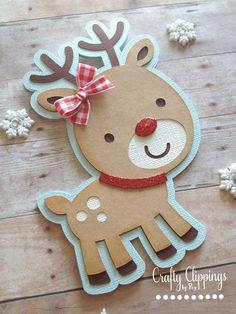 Christmas Card Handmade Christmas Card by CraftyClippingsbyPeg