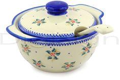 Polish Pottery 101 oz Tureen with Ladle | Boleslawiec Stoneware | Polmedia H6669E