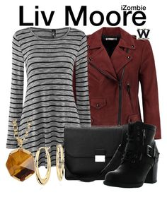 """""""iZombie"""" by wearwhatyouwatch ❤ liked on Polyvore featuring Rebecca Minkoff, Aspinal of London, Betani, Vince Camuto, Blue Nile, television and wearwhatyouwatch"""