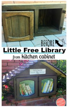 How to easily build a Little Free Library for your neighborhood from a repurposed solid wood kitchen