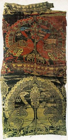 Islamic Spanish woven textile design, produced in the 12th century