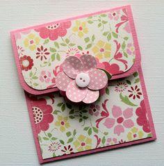Gift Card Holder, Pink Flower Gift Card Holder. $2.75, via Etsy.