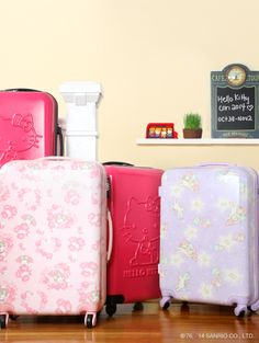 Luggage with some of our favorite #Sanrio characters