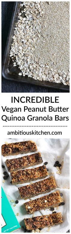 Desserts Easy Quick No Bake Simple Granola Bars 57 Ideas - Food- Asian Food Desserts! Healthy Baking, Healthy Treats, Desserts With Oats, Snack Recipes, Dessert Recipes, Farro Recipes, Healthy Recipes, Quinoa Granola Bars, Gluten Free Peanut Butter