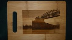 Custom cutting board for Ryan from 3dcarving on Etsy