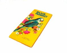 Birthday Book  Vintage Birthday Card  The Blue Parakeet by jinxxy, $8.00