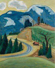lawrenceleemagnuson:  Gabriele Münter (Germany 1877-1962) Strassendurchstich (1913) oil on cardboard 55 x 46.6cm
