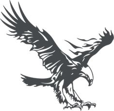 2017 New High Quality Cool Flying Eagle Reflective Sticker Car Truck Decal sticker Hood Decals Eagle Tattoos, Tribal Tattoos, Stencil Art, Stencils, Eagles, Adler Tattoo, Pencil Tattoo, Eagle Vector, Arte Tribal