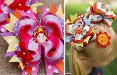 Love these hair bows!