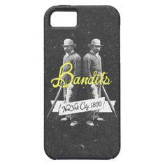 Vintage Western New York Bandits Black White Art iPhone 5 Cases $44.95