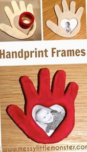 A simple Valentines day or Mothers day… Salt dough handprint frame instructions. A simple Valentines day or Mothers day craft for kids including babies, toddlers, preschoolers, eyfs. Kids Crafts, Mothers Day Crafts For Kids, Fathers Day Crafts, Valentine Day Crafts, Baby Crafts, Toddler Crafts, Preschool Crafts, Holiday Crafts, Valentines Day Crafts For Preschoolers