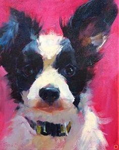 Love Pup by susan hecht Oil ~ 10 x 8