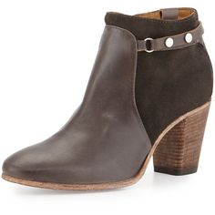 Alberto Fermani Evina Suede/Leather Bootie (35.610 RUB) ❤ liked on Polyvore featuring shoes, boots, ankle booties, ankle boots, forged iron, high heel leather boots, leather ankle boots, leather ankle booties, short boots and strappy booties