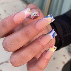 Pretty Nail Designs, Diy Nail Designs, Acrylic Nail Designs, Acrylic Nails, Sassy Nails, Cute Nails, Pretty Nails, Nail Art Salon, Nagellack Design