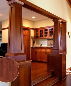 Reddish-brown maple floors add depth to this classic Craftsman home Photo: Russ Widstrand Craftsman Style Interiors, Craftsman Furniture, Craftsman Interior, Craftsman Style Homes, Craftsman Bungalows, Craftsman Kitchen, Kid Furniture, Furniture Design, Style At Home