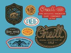 O'Neil Graphics by Curtis Jinkins of Neighborhood Studio . . . #graphicdesign #salutetodesign #branding #artdirection #adorelayout #typography #logodesign #badgehunting #badges