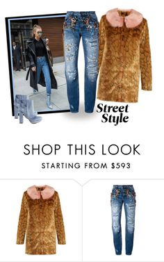 """Best New York Street Style Trend"" by sassyscribe ❤ liked on Polyvore featuring Shrimps, Dolce&Gabbana and Charlotte Russe"