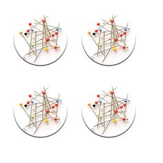 A pack of 4 pattern weights in strewn pins design inspired by sewing bee #patternweights