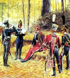 Prince Józef Poniatowski with staff in Napoleon French, French Empire, French Pictures, French Army, Napoleonic Wars, Kaiser, Toy Soldiers, Military Art, Warsaw