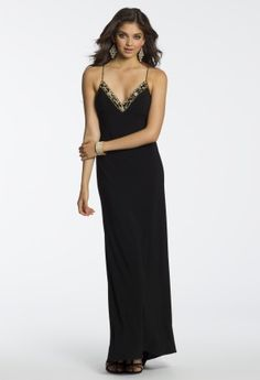 Long Jersey Illusion Back Dress from Camille La Vie and Group USA #homecoming #homecomingdresses #prom