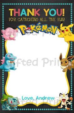 Pokemon Thank You Card 1 Birthday Thank You Cards, Printable Thank You Cards, Themes Free, Customer Service, Coupon Codes, Minions, Pokemon, Printables, Digital