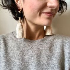 Lizzie Fortunato Jewelry | Lizzie Fortunato Earrings Nwt | Poshmark Tassel Earrings, Drop Earrings, Gold Accents, Polka Dots, Women Jewelry, Ivory, Model, Outfits, Things To Sell