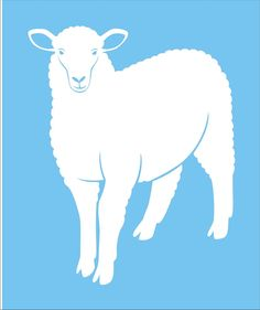 SHEEP Stencil - Animal  REUSABLE Stencils - 7 sizes Available-  Create Farm Pillows and Signs