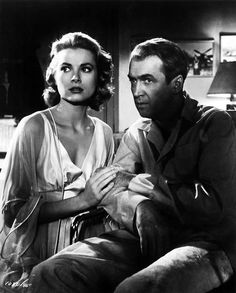 Grace Kelly and James Stewart - Rear Window (Hitchcock, 1954)