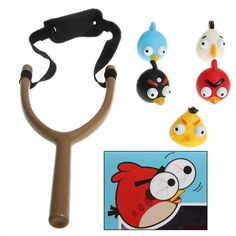 5 Mini Angry Birds Figures And Slingshot Toy Action Set PVC Collection Kids