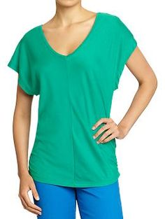 Green Dolman-Sleeve Tops - good for color blocking