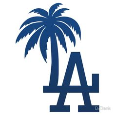 Los Angeles Dodgers Tropical Logo by DrDank