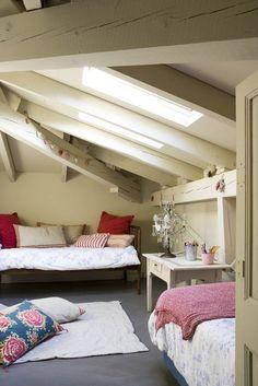 Spanish villa with attic bedroom shot by Jordi Canosa