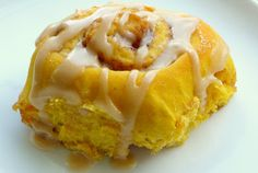 Kathie Cooks...: Amish Pumpkin Cinnamon Rolls with Caramel Icing