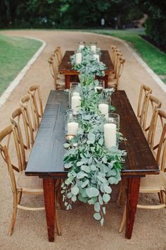 farm tables and x back wooden chairs