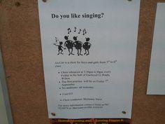 Do you like singing? Choir, Boy Or Girl, Singing, Personalized Items, Education, Books, Livros, Greek Chorus, Livres