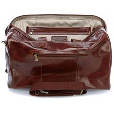 Chiarugi leather luggage bag travel weekender Handmade Italy