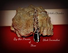 The Power of 3 Black Tourmaline Wire Wrapped by WitchsChamber