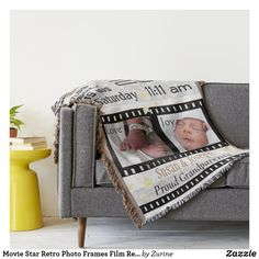 Shop Movie Star Retro Photo Frames Film Reel Throw Blanket created by Zurine. Movie Reels, Film Reels, Great Gifts For Guys, Fun Gifts, Film Strip, Photo Memories, Vintage Movies, Are You The One, Movie Stars