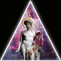 #halo #triangle #ancient #statue #galaxy #artwork #art #imagination  If God had wanted me otherwise, He would have created me otherwise.